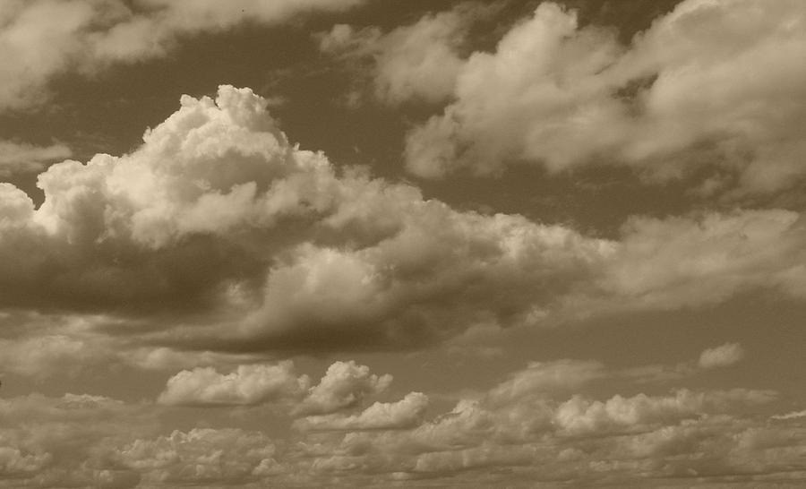 Cloudscape In Sepia Photograph