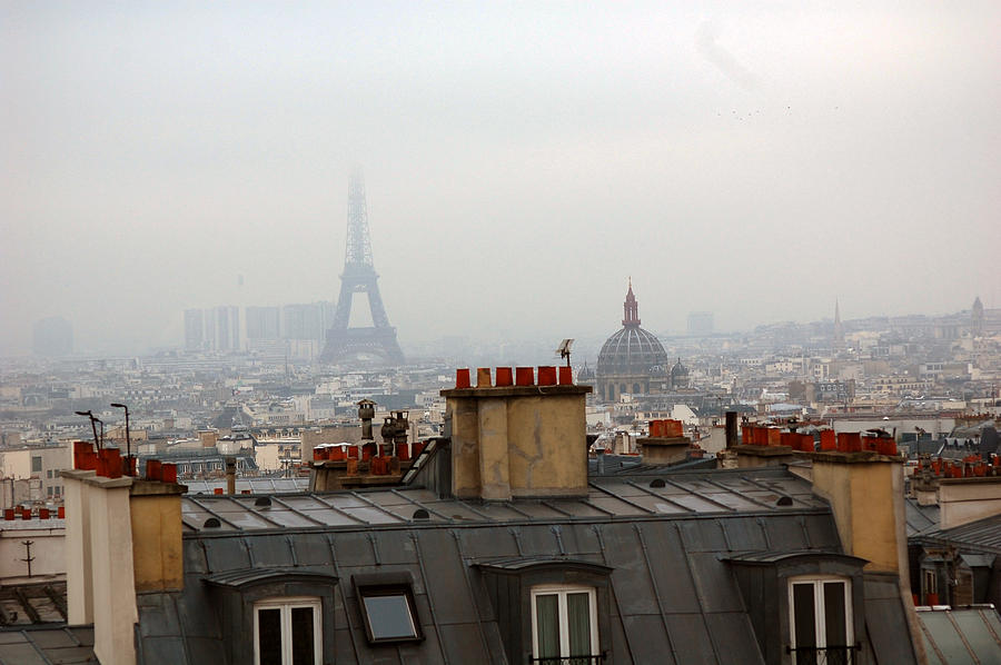 Cloudy Day In Paris Photograph