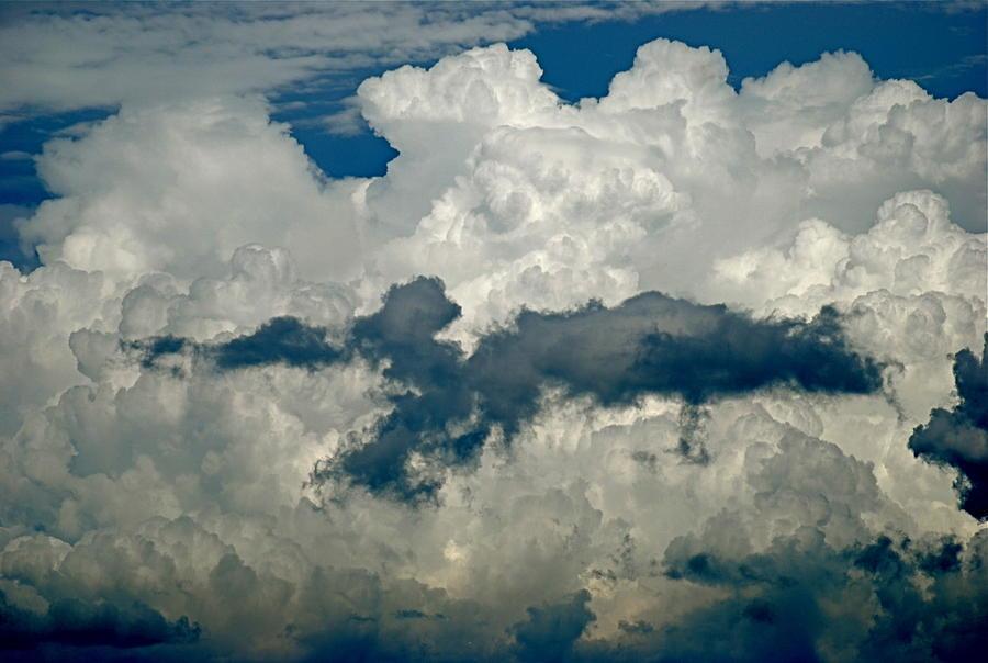Enterprise Photograph - Cloudy Enterprise by Marc Levine