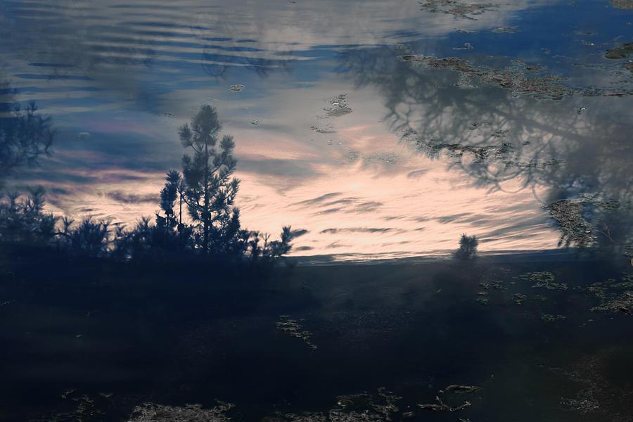 Cloudy Lake Photograph
