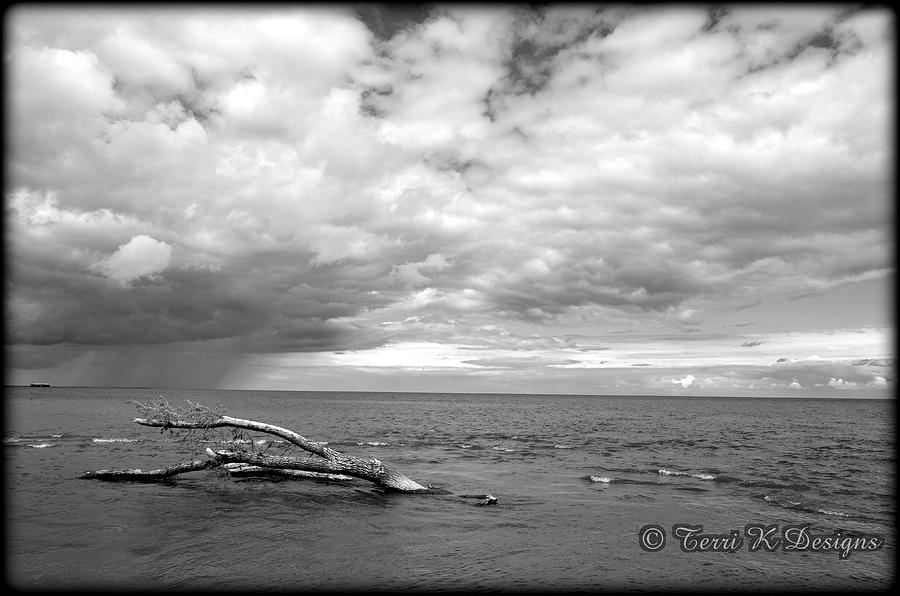 Water Photograph - Cloudy Over Lake Huron by Terri K Designs