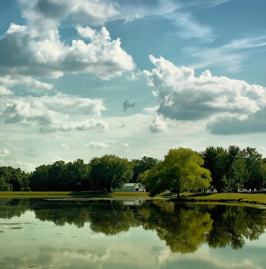 Clouds Photograph - Cloudy Reflections by Kim Hojnacki