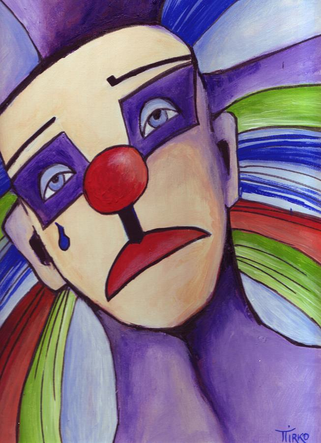 Clown Nez Rouge Painting  - Clown Nez Rouge Fine Art Print
