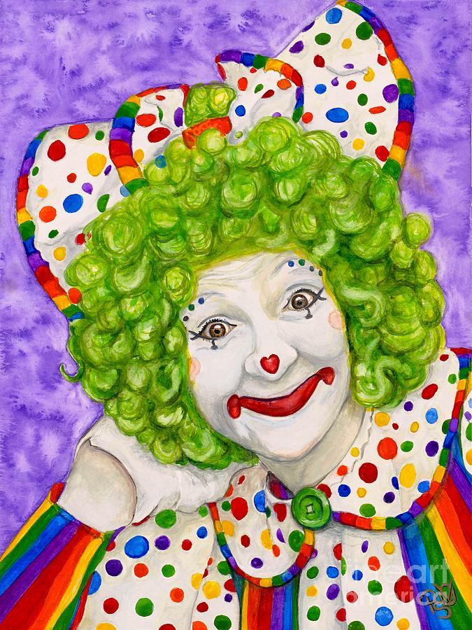 Clown Sue Marranconi Painting