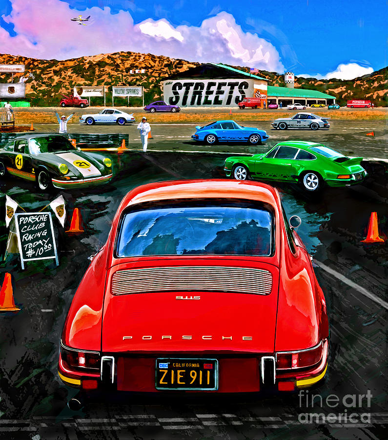 Club Racing Mixed Media  - Club Racing Fine Art Print