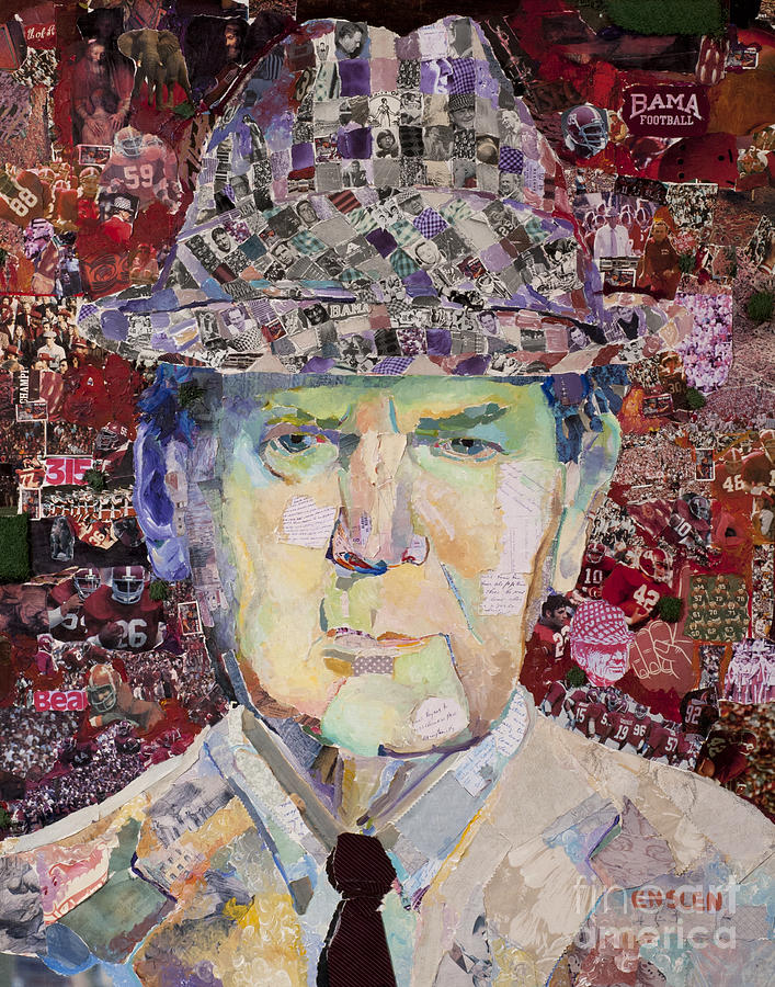 Coach Paul Bear Bryant Mixed Media - Coach Paul Bryant by Alaina Enslen