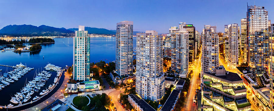Coal Harbour In Vancouver Photograph