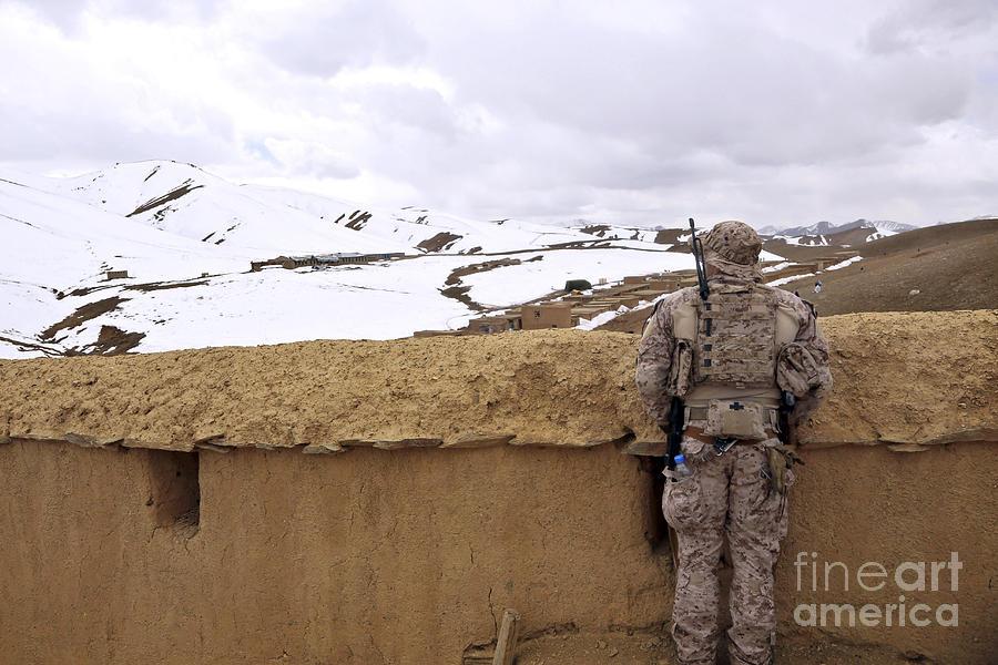 Coalition Forces Visit The Hazaran Photograph
