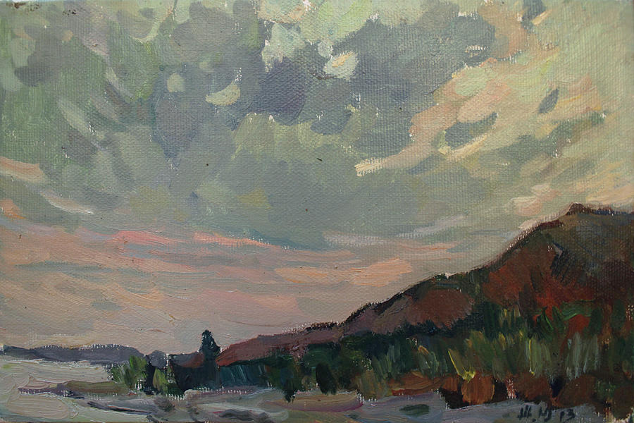 Coast At Sunset Painting