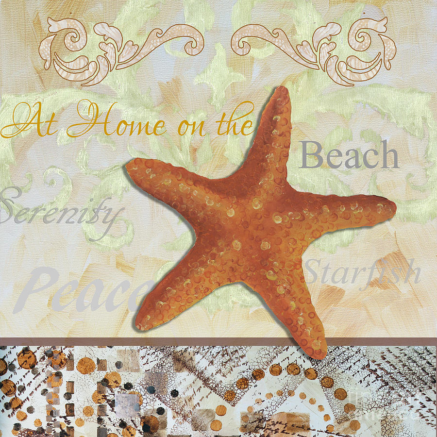 Coastal Decorative Starfish Painting Decorative Art By Megan Duncanson Painting