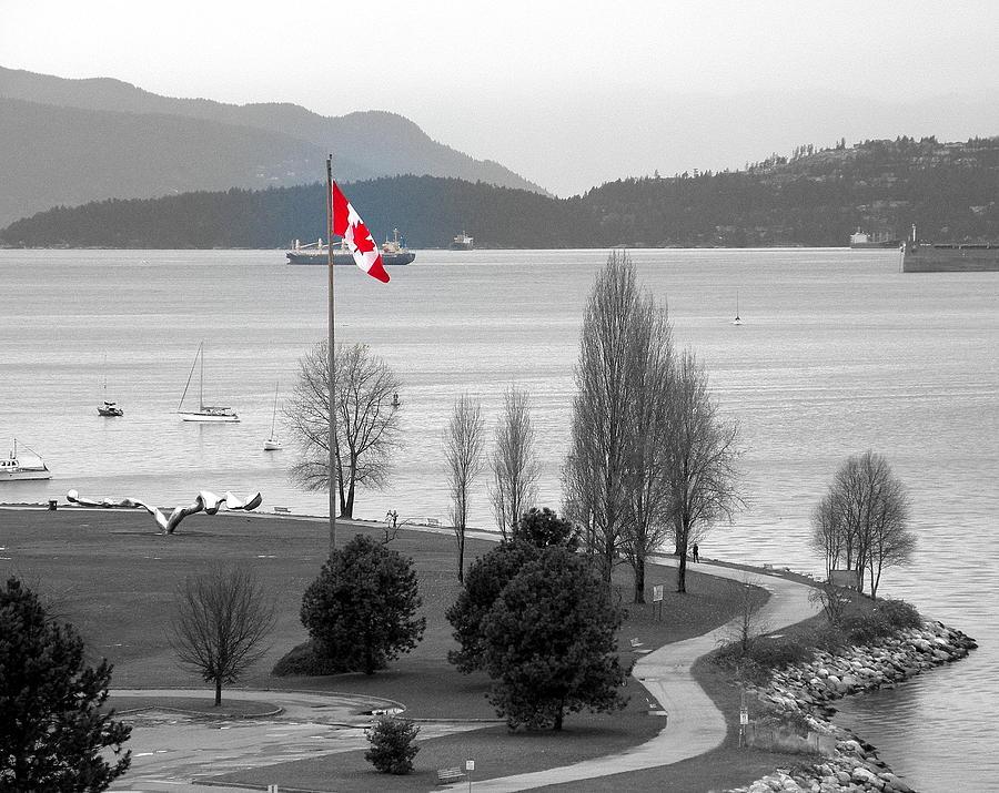 Coastal Canadian Flag Photograph