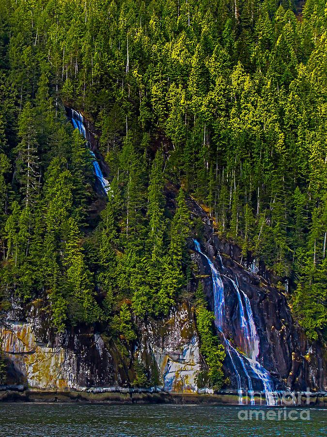 Coastal Waterfall Photograph