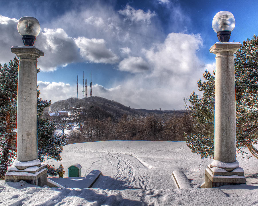 Cobbs Hill Park In Winter Photograph  - Cobbs Hill Park In Winter Fine Art Print