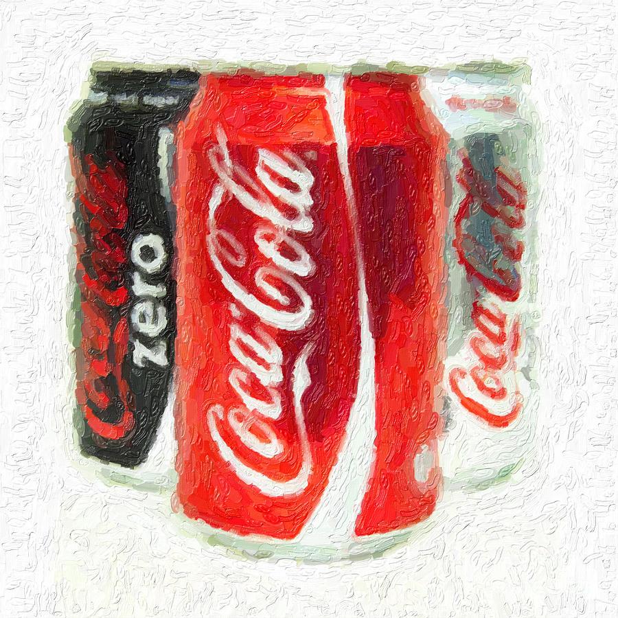 Coca Cola Art Impasto Photograph