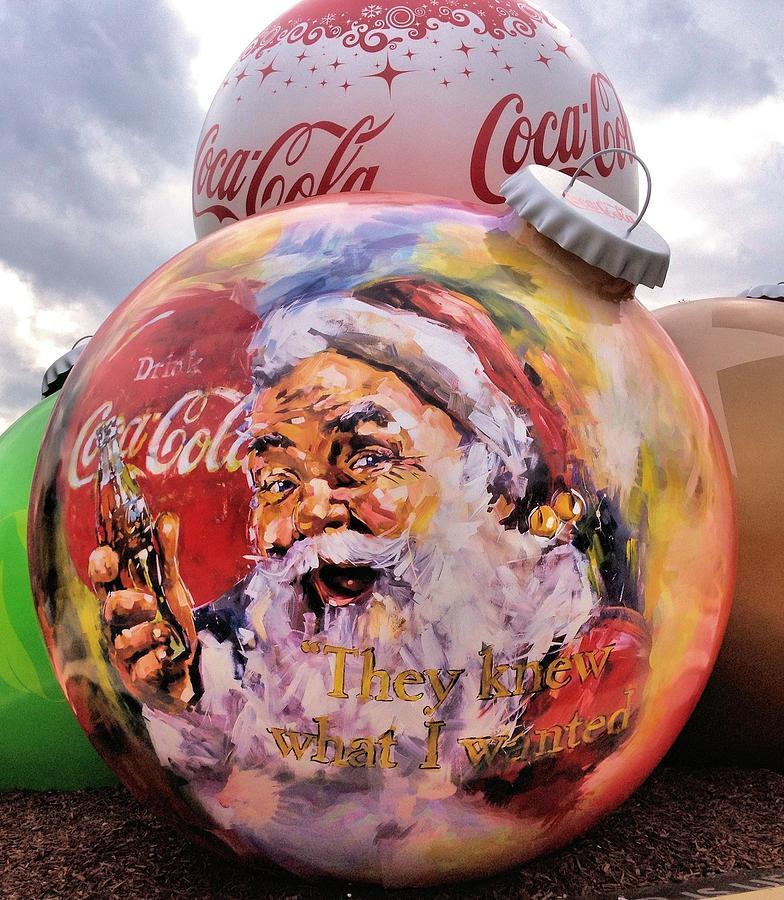Coca Cola Christmas Bulbs Photograph