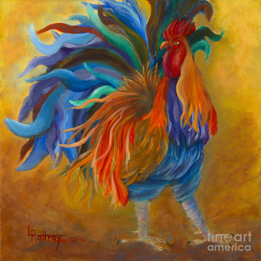 Rooster Painting - Cock-of-the-walk by Lynn Rattray