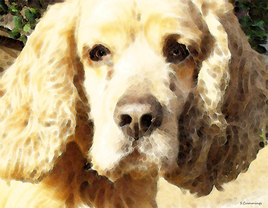 Cocker Spaniel Art - Mellow Yellow Painting  - Cocker Spaniel Art - Mellow Yellow Fine Art Print