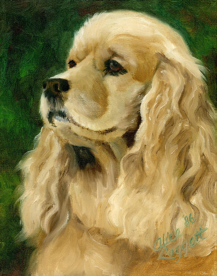 Cocker Spaniel Dog Painting