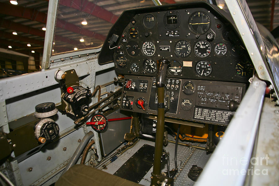 Cockpit Of A P-40e Warhawk by Scott Germain