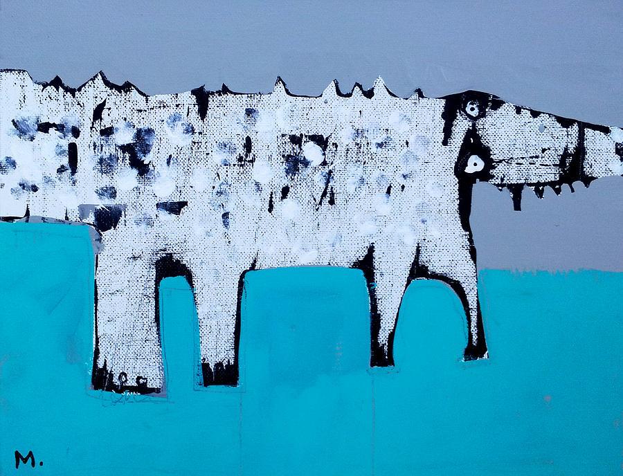 Canvas Painting - Cocodrillus by Mark M  Mellon