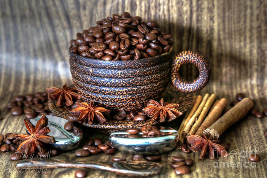Coffee And Beans Photograph