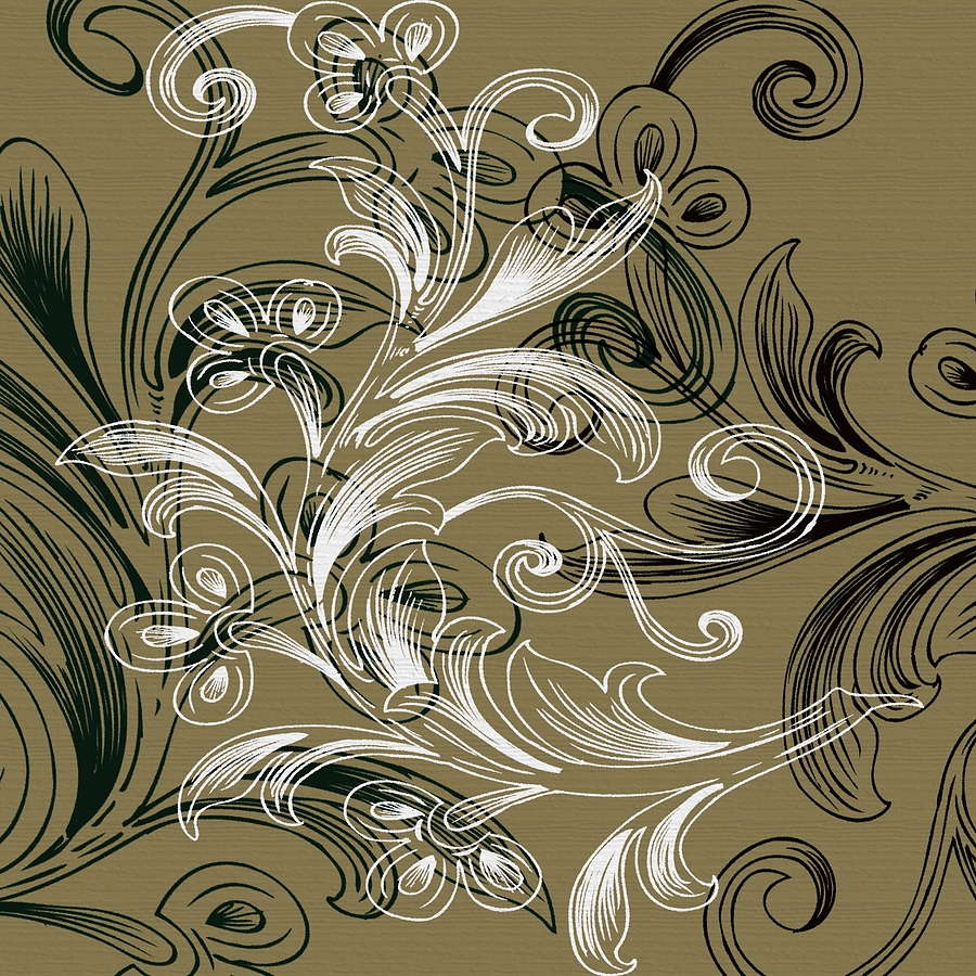 Coffee Flowers 4 Olive Digital Art