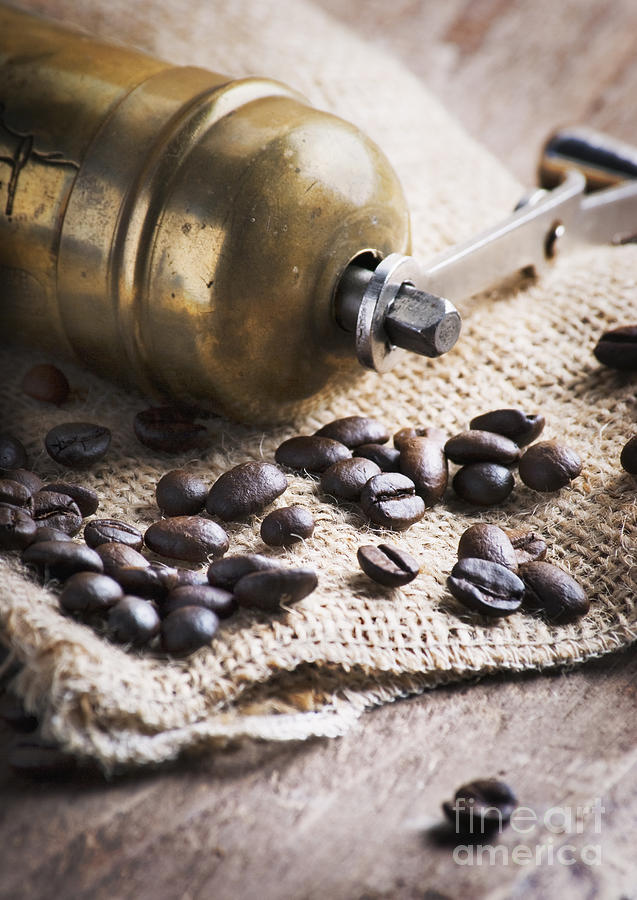 Coffee Pyrography - Coffee Mill by Jelena Jovanovic