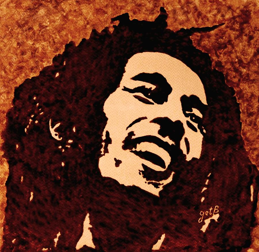 Coffee Painting Bob Marley Painting