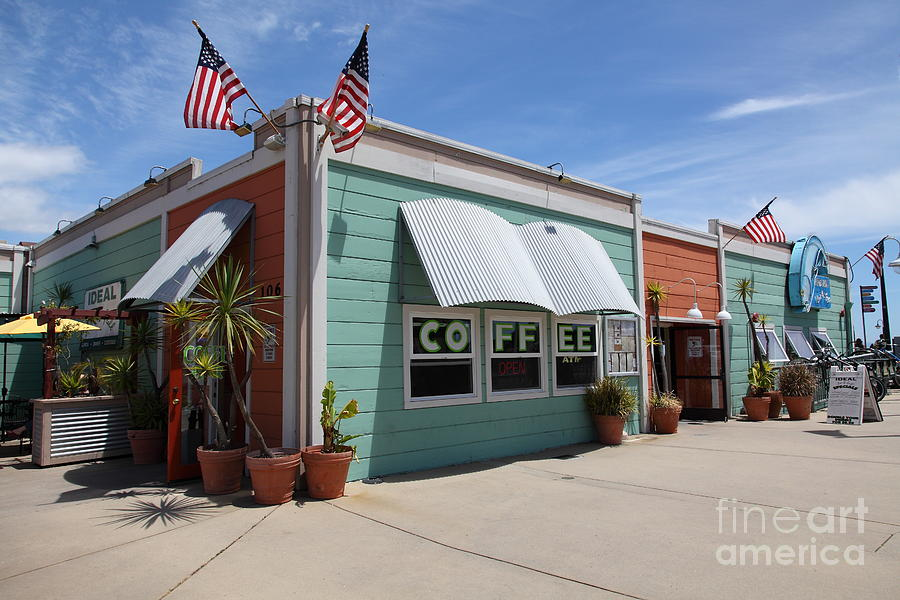 Coffee Shop At The Municipal Wharf At Santa Cruz Beach Boardwalk California 5d23833 Photograph  - Coffee Shop At The Municipal Wharf At Santa Cruz Beach Boardwalk California 5d23833 Fine Art Print