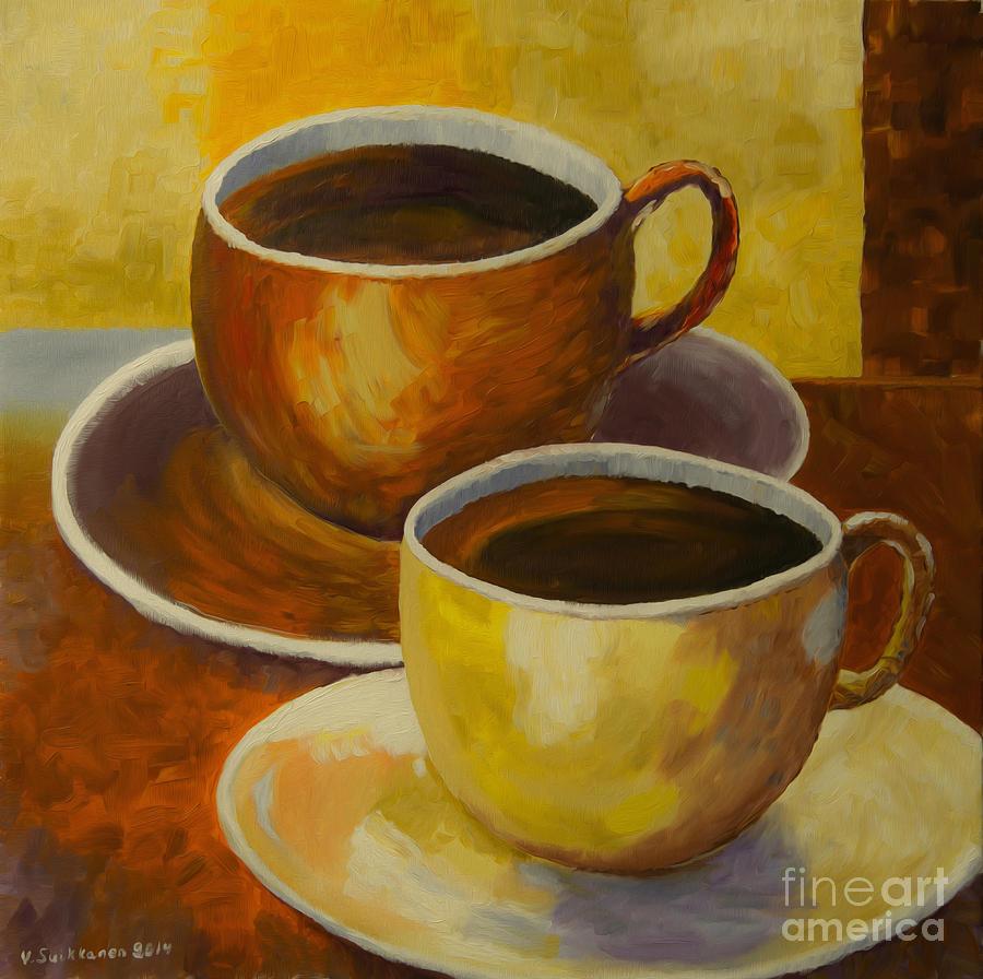 Art Painting - Coffee Time by Veikko Suikkanen