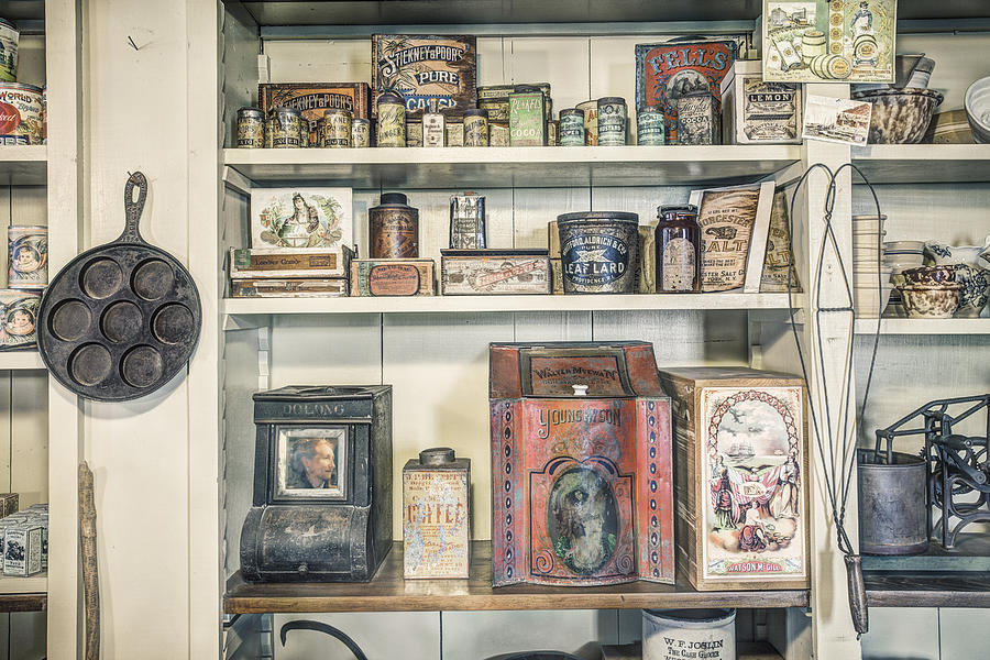 Coffee Tobacco And Spice - On The Shelves At A 19th Century General Store Photograph