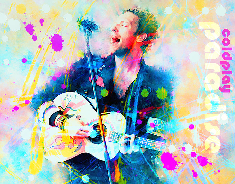 Coldplay Paradise Painting  - Coldplay Paradise Fine Art Print