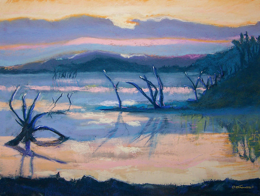 Coletta Lake Pastel by Charles Krause