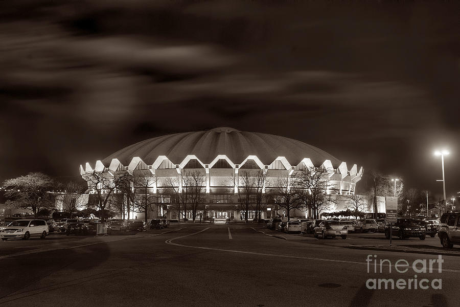 Coliseum At Night Toned Photograph