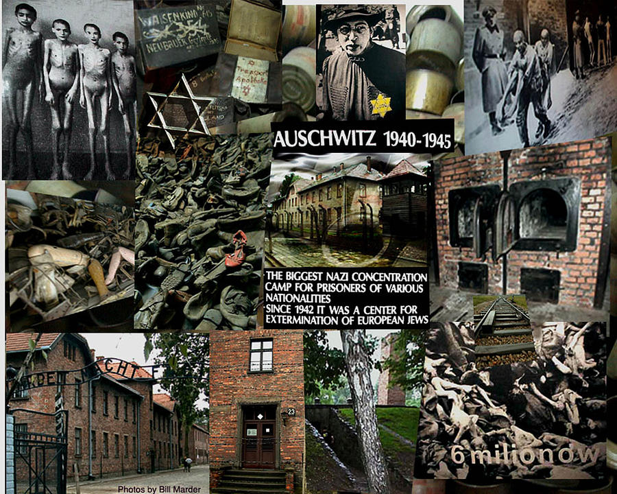 Collage Of Auschwitz Death Camp Photograph By Bill Marder