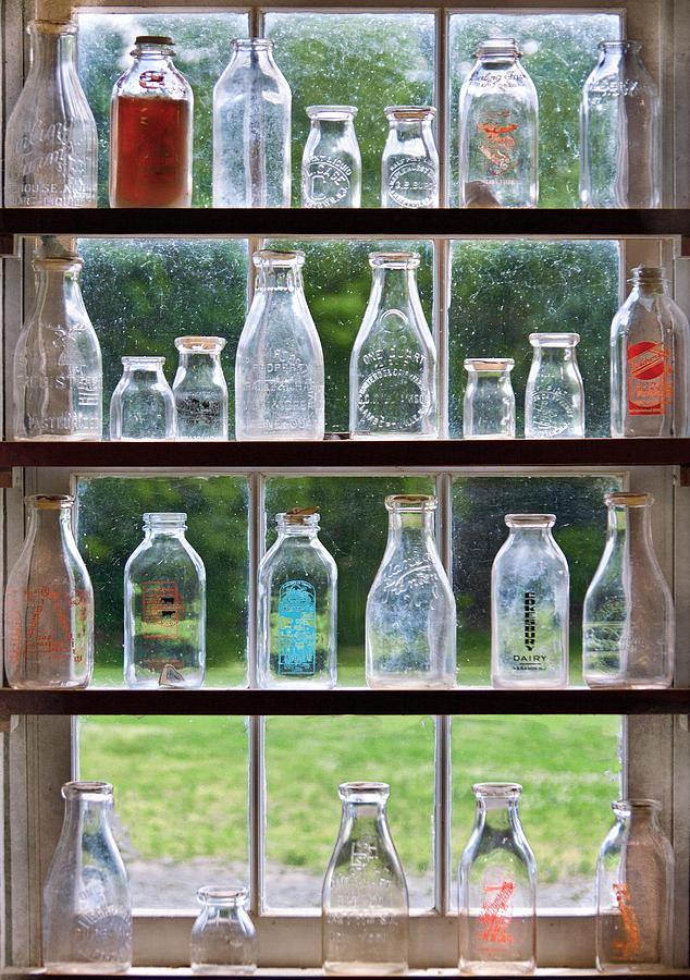 Collector - Bottles - Milk Bottles  Photograph
