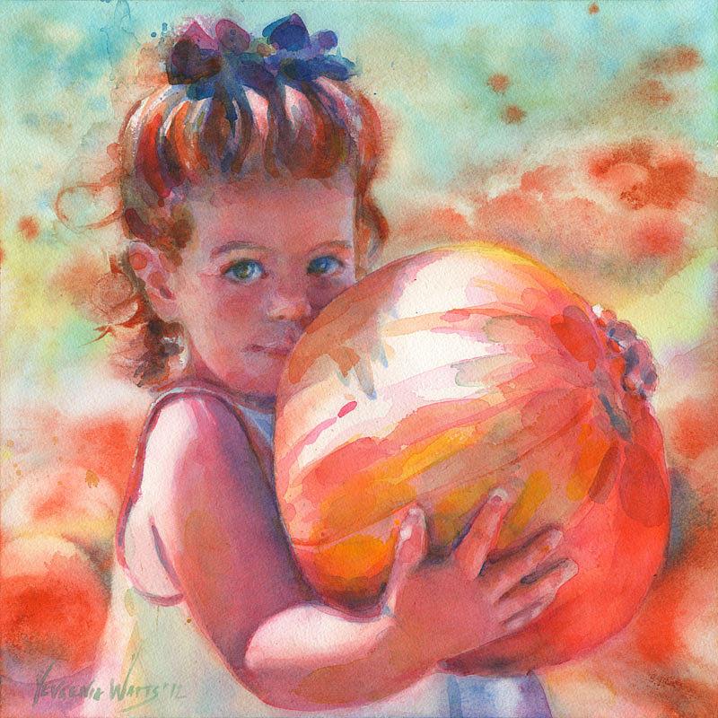 Child Painting - Colleen by Yevgenia Watts