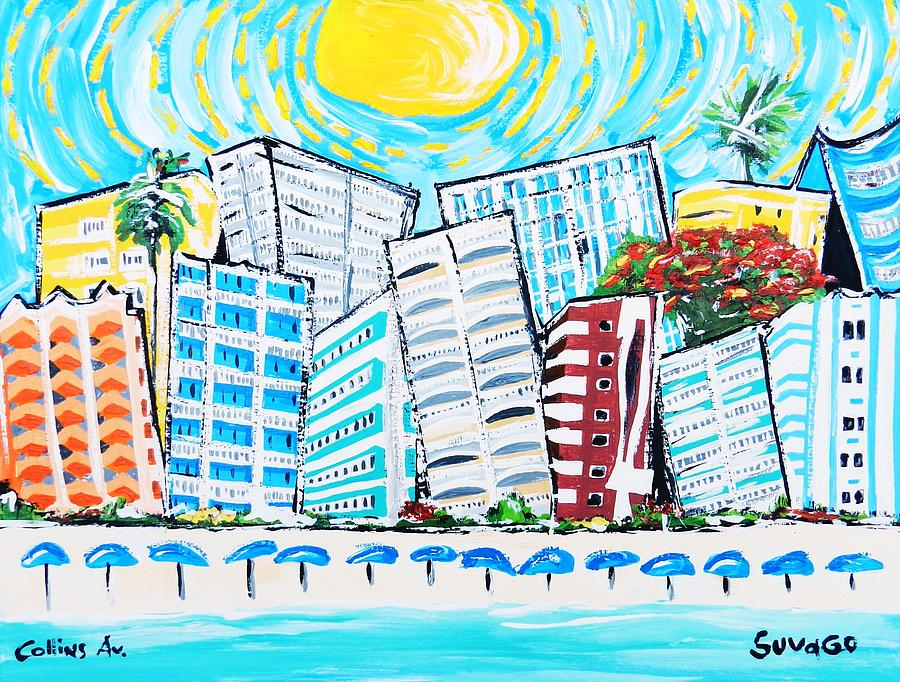 Collins Ave Miami Beach Painting