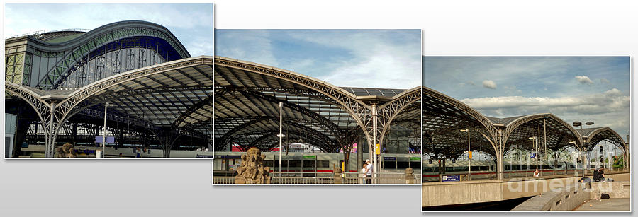 Cologne Photograph - Cologne Central Train Station - Koln Hauptbahnhof - 02 by Gregory Dyer