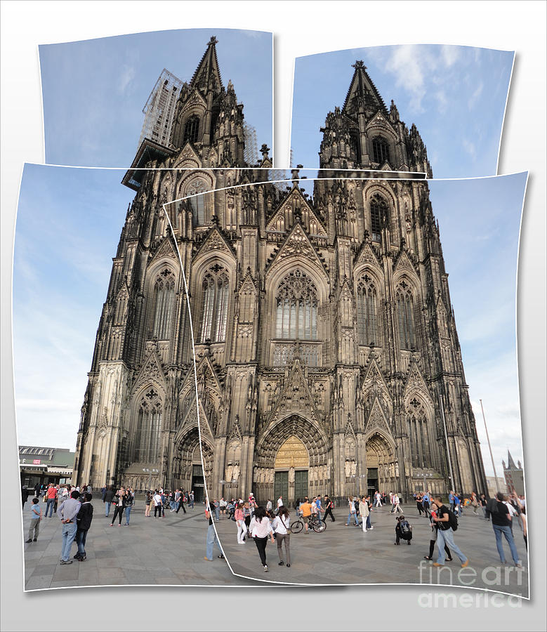 Cologne Germany - High Cathedral Of St. Peter - 04 Photograph  - Cologne Germany - High Cathedral Of St. Peter - 04 Fine Art Print