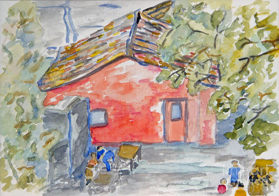 Watercolor Painting - Colonia Del Sacramento by Greg Mason Burns