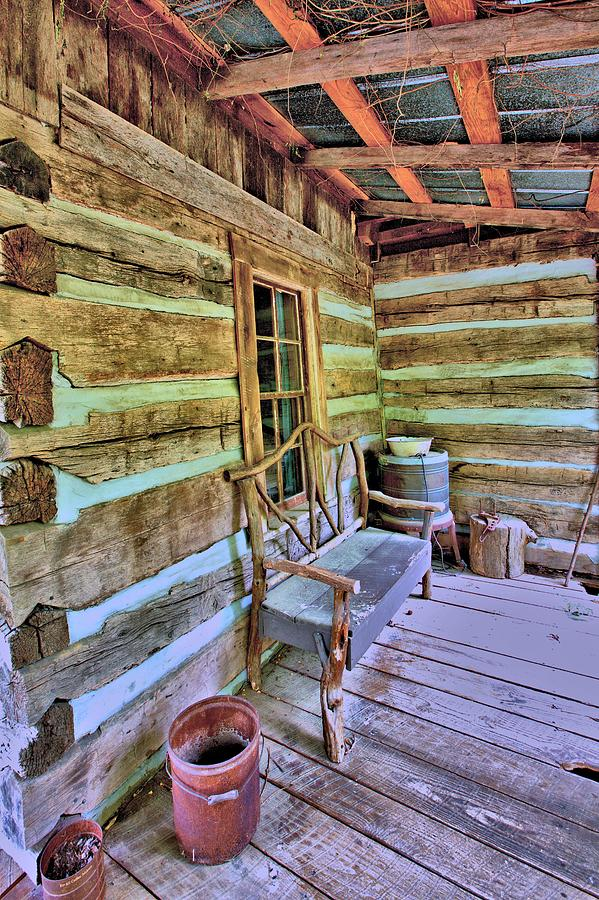Colonial Front Porch Basics Photograph  - Colonial Front Porch Basics Fine Art Print