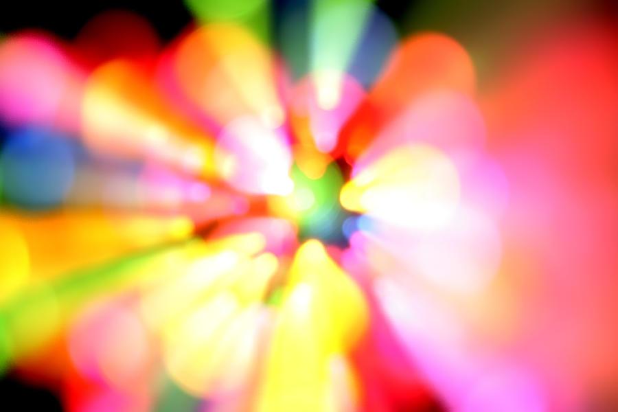 Vibrant Digital Art - Color Explosion by Les Cunliffe