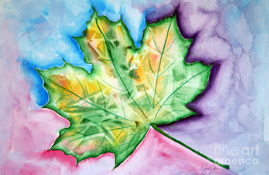 Color Leaf Painting  - Color Leaf Fine Art Print