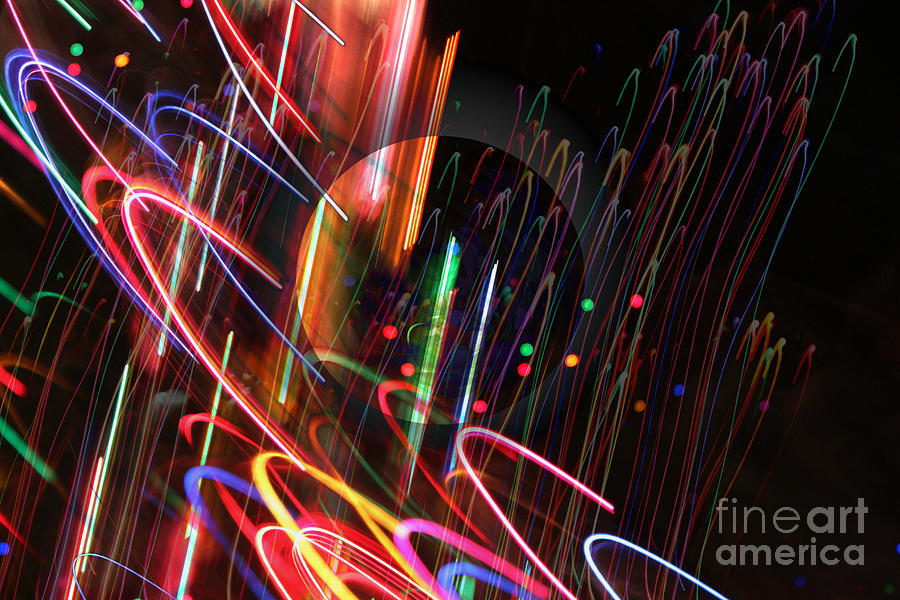Color Light Rotation Digital Art  - Color Light Rotation Fine Art Print