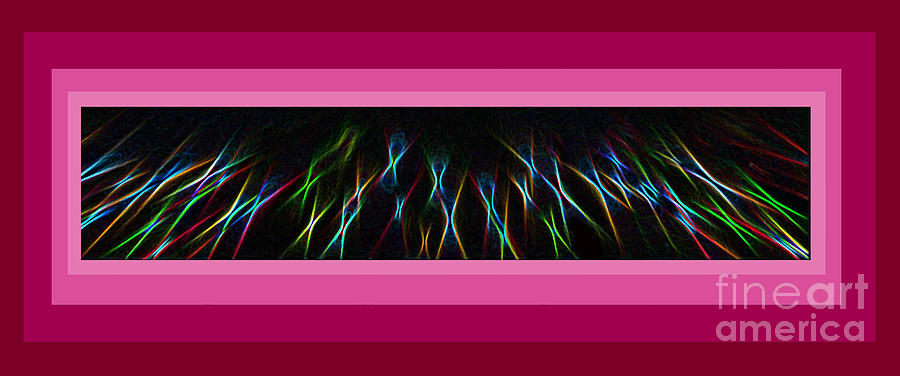 Art Photograph - Color Lightrays Framed In Pink To Red Hues by ImagesAsArt Photos And Graphics