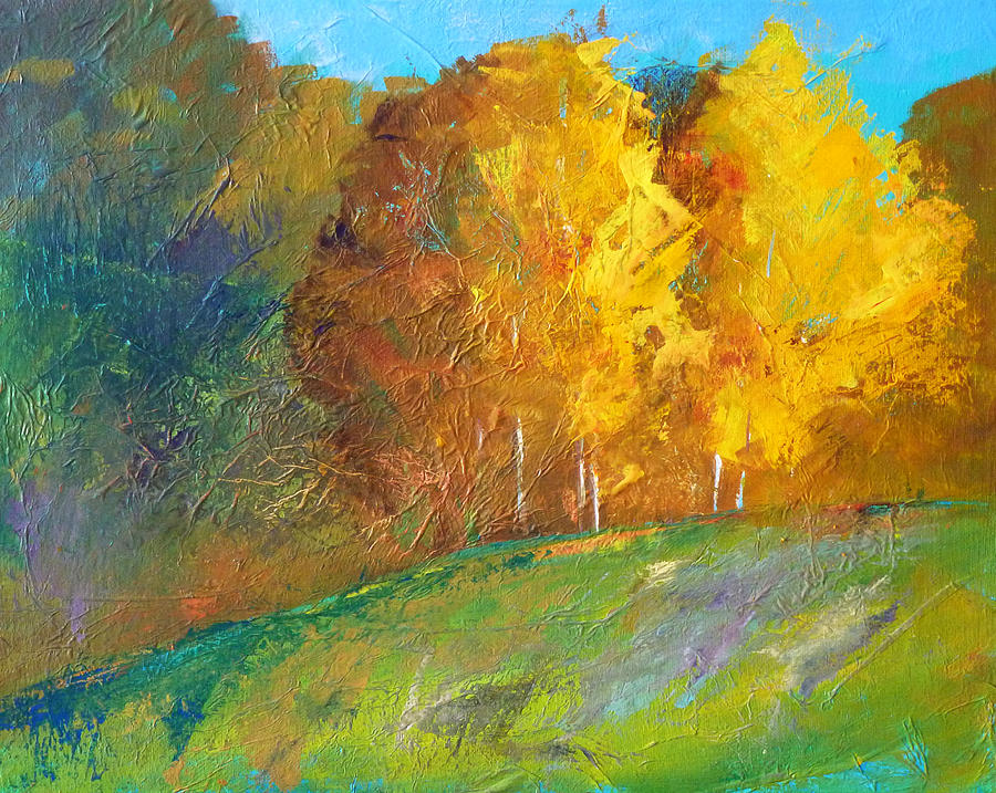 Abstract Landscape Painting - Color by Nancy Merkle