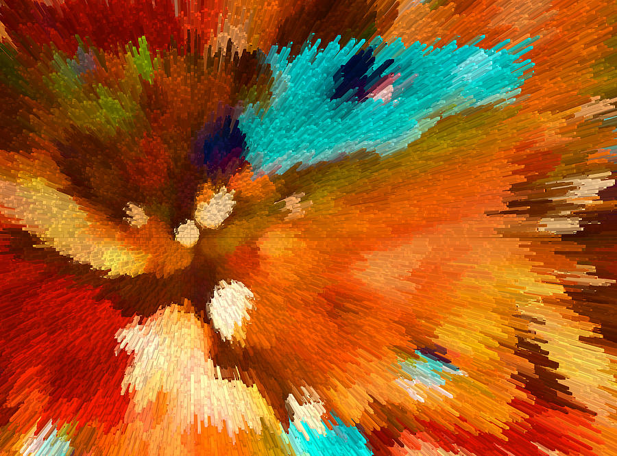 Color Shock 1 - Vibrant Digital Painting Digital Art