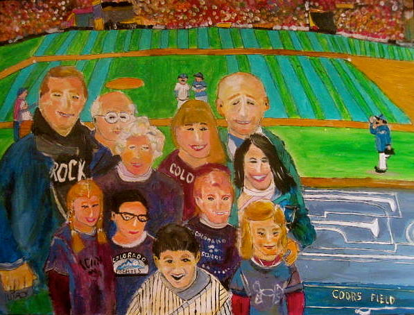 Colorado Baseball Family Painting