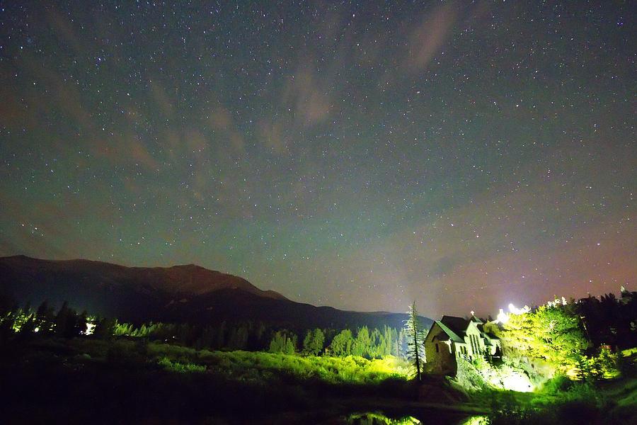 Colorado Chapel On The Rock Dreamy Night Sky Photograph